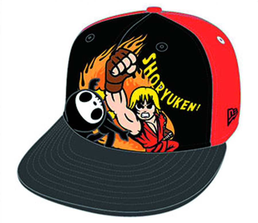 STREET FIGHTER X TOKIDOKI ON FIYAH SNAPBACK CAP