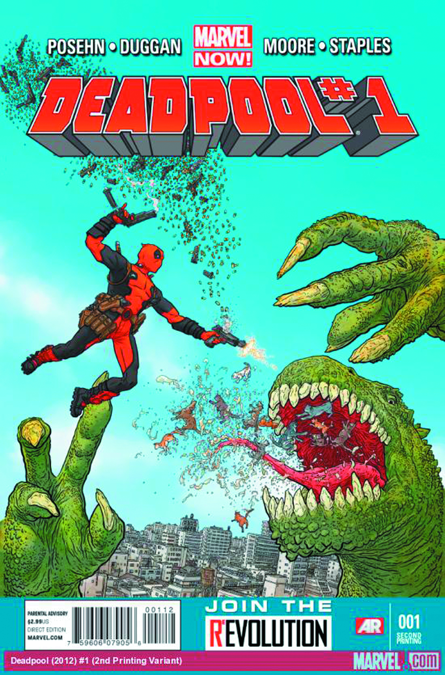 DEADPOOL #1 3RD PTG DARROW VAR NOW