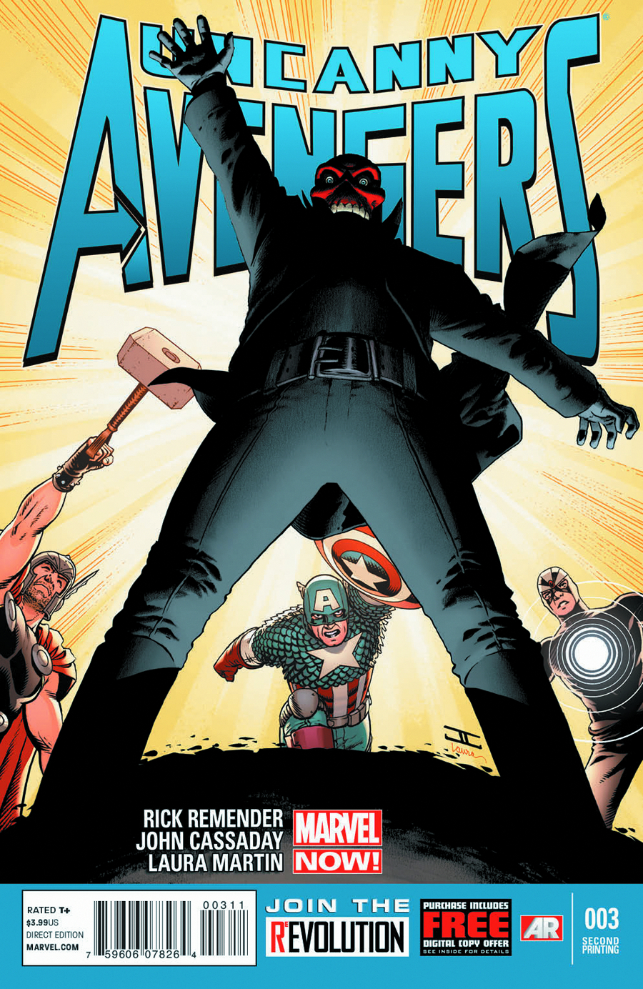 UNCANNY AVENGERS #3 2ND PTG CASSADAY VAR NOW