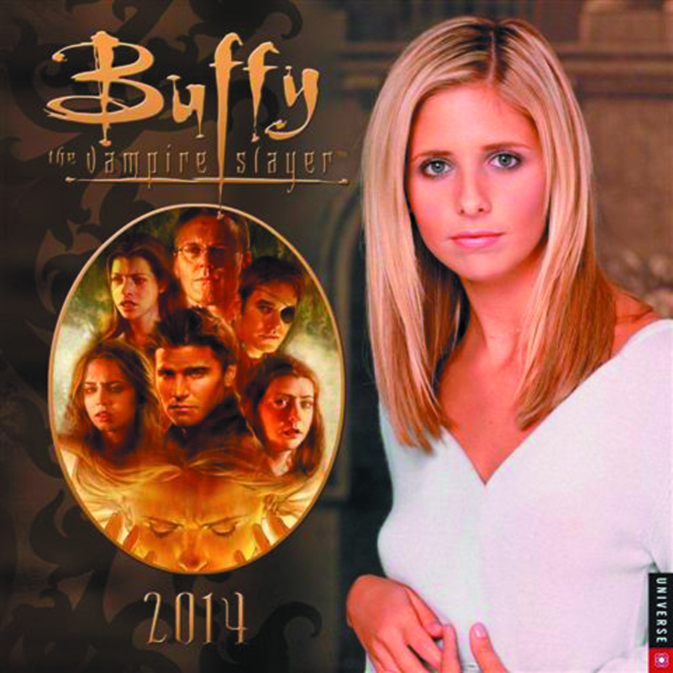 BTVS BUFFY COMIC ART 2014 WALL CALENDAR