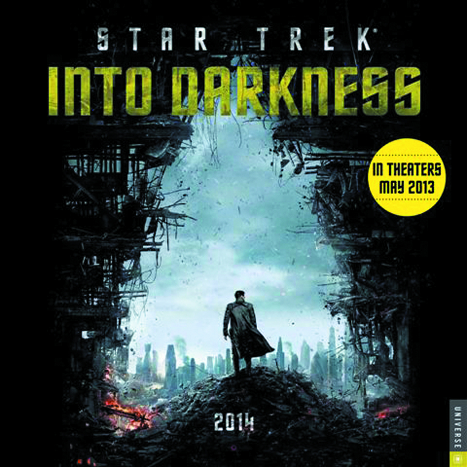 STAR TREK INTO DARKNESS 2014 WALL CALENDAR