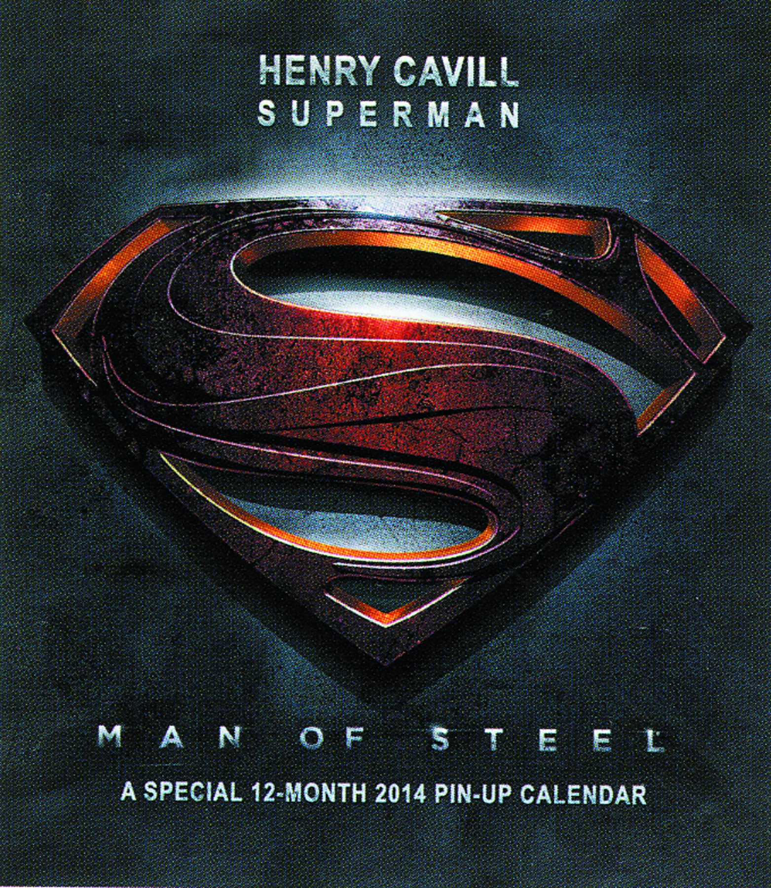 SUPERMAN MAN OF STEEL MOVIES SPECIAL ED 2014 WALL CAL