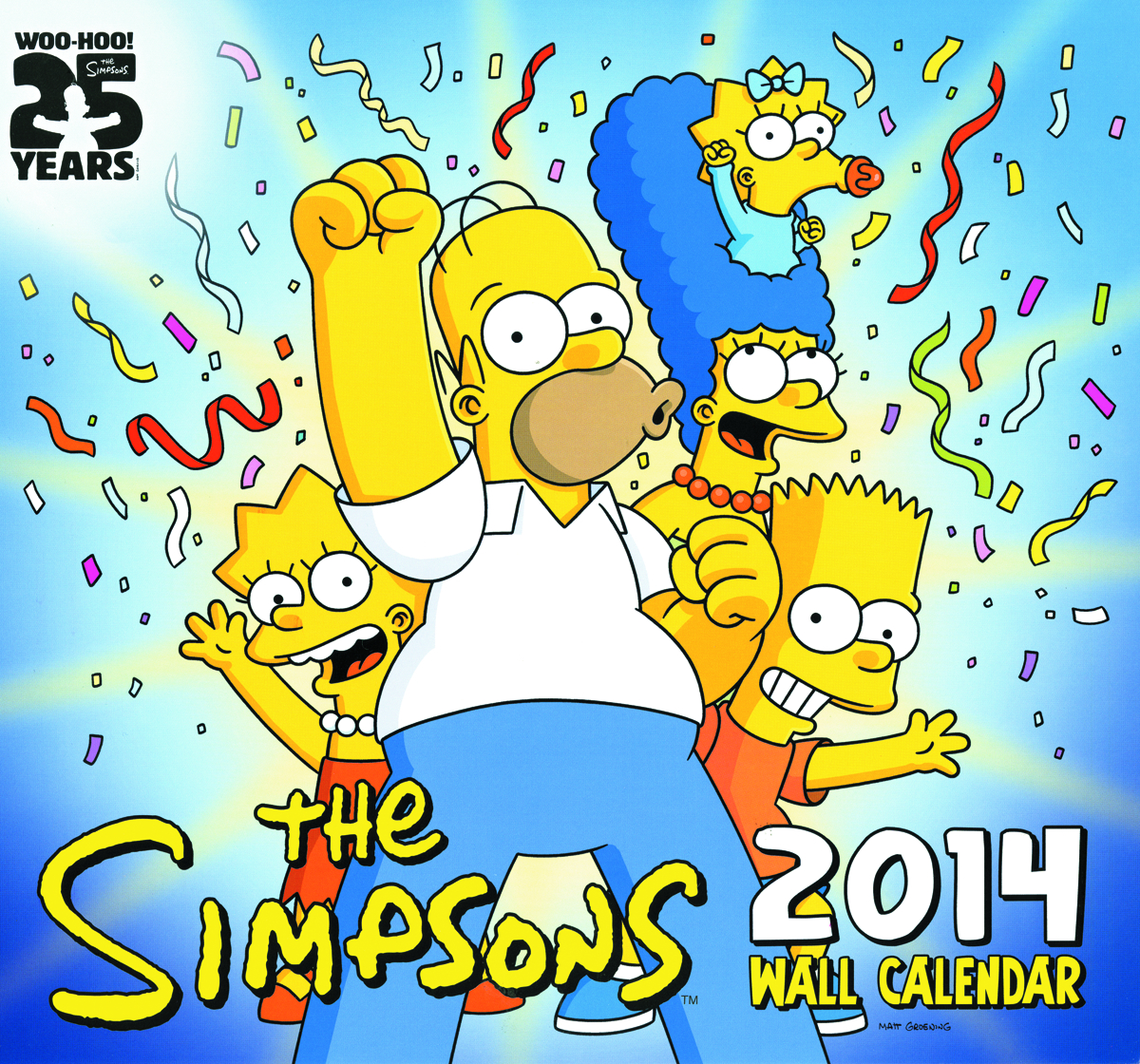 SIMPSONS 2014 WALL CAL