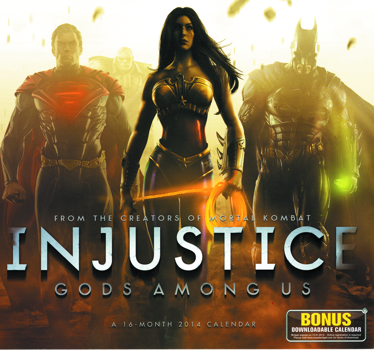 INJUSTICE 16 MONTH 2014 WALL CALENDAR