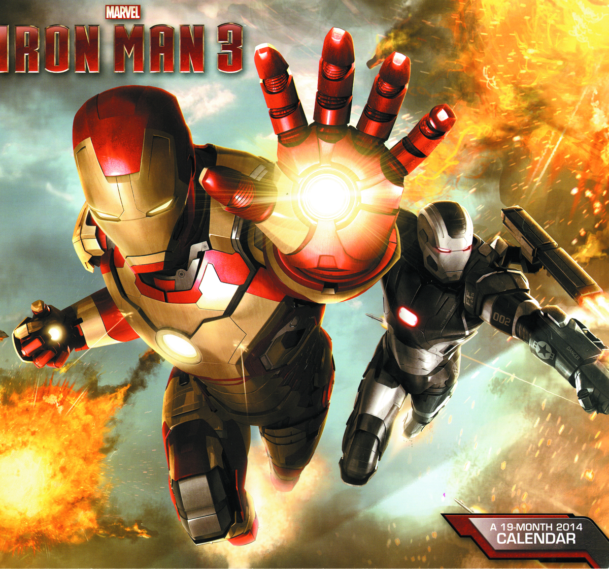IRON MAN 3 19 MONTH 2014 WALL CAL