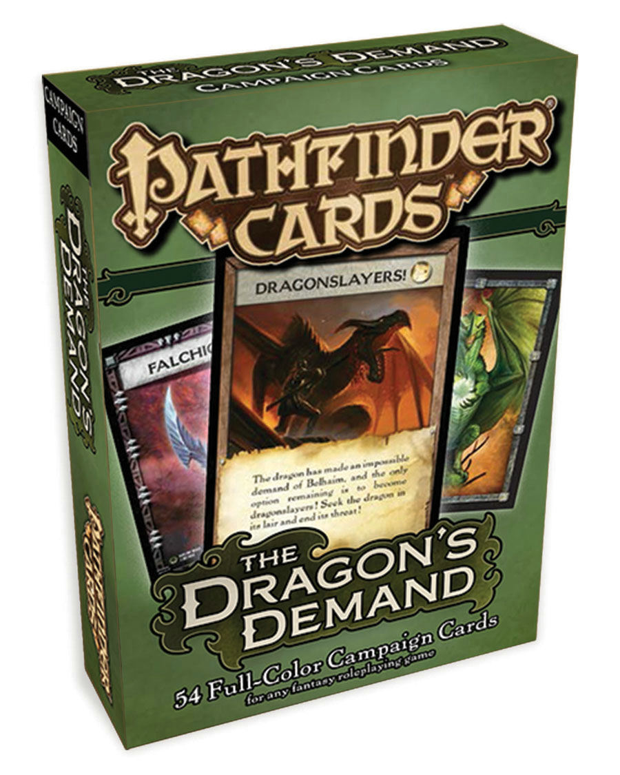 PATHFINDER CAMPAIGN CARDS DRAGONS DEMAND
