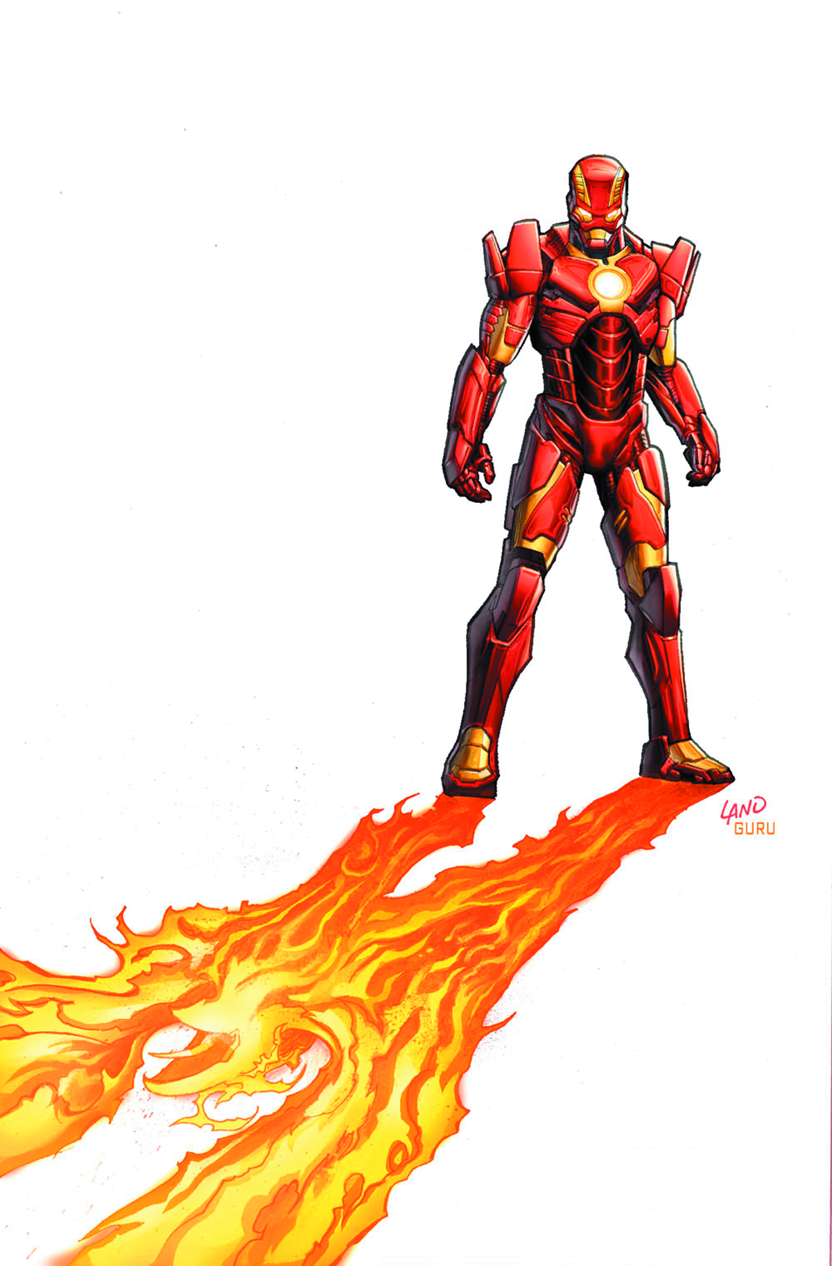 IRON MAN #6 2ND PTG LAND VAR NOW2