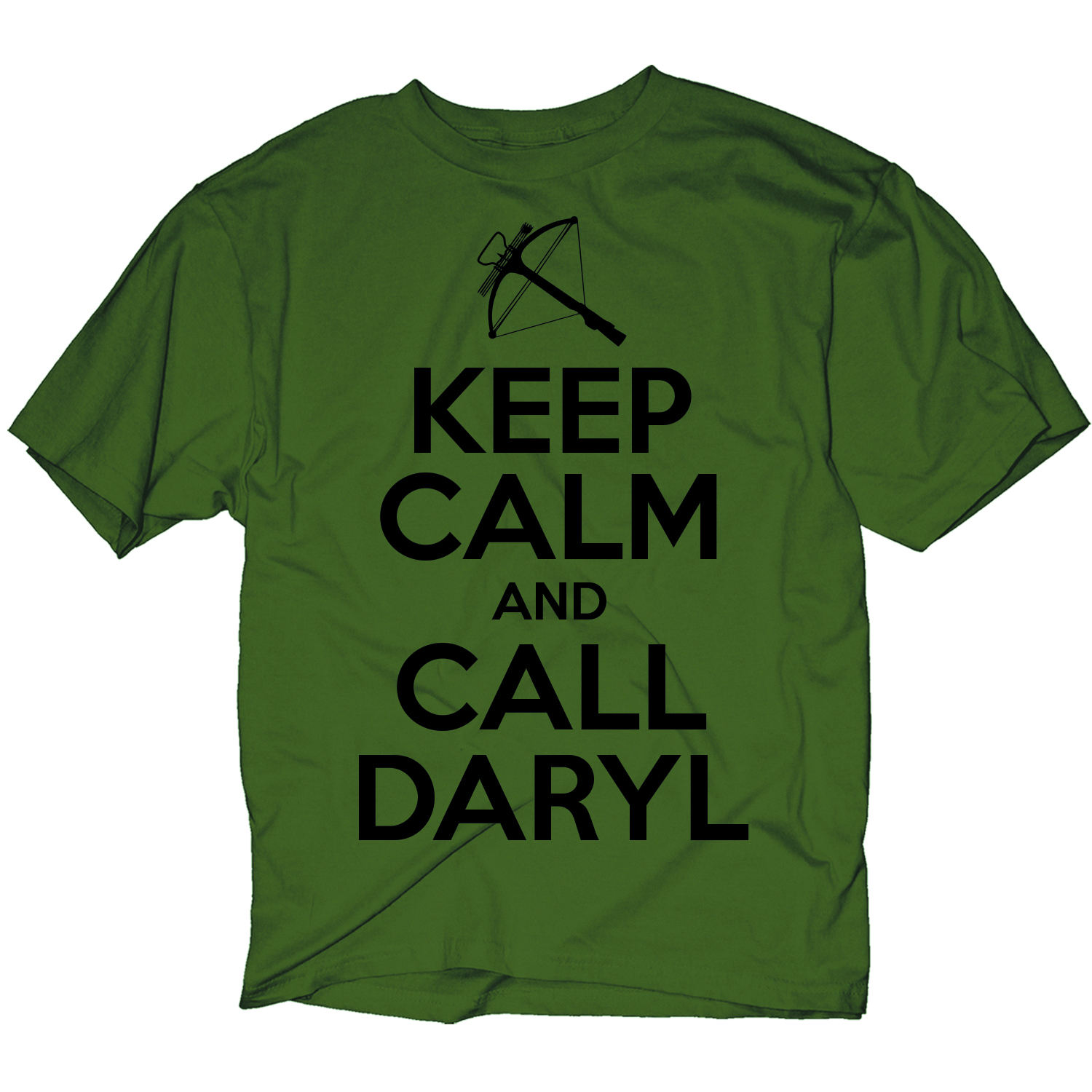 WALKING DEAD KC CALL DARYL PX OLIVE T/S LG