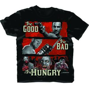 WALKING DEAD GOOD BAD HUNGRY PX BLK T/S SM
