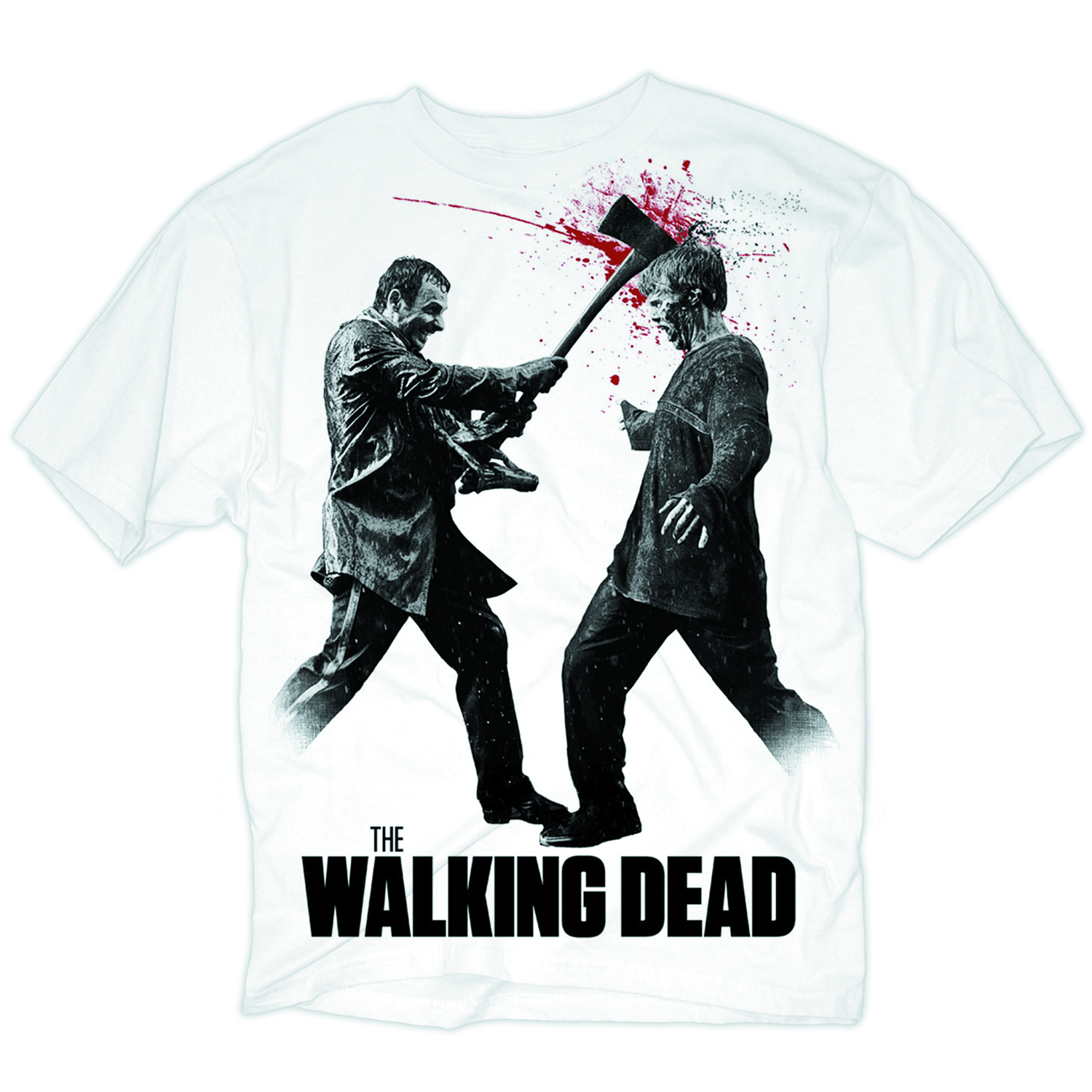 WALKING DEAD AXE TO THE HEAD T/S LG
