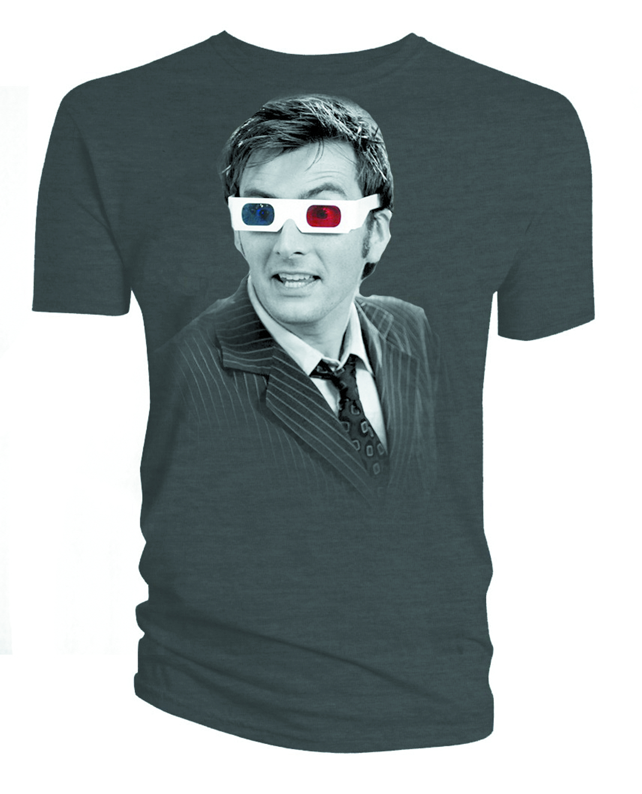 DW TENTH DOCTOR 3D GLASSES PX CHARCOAL T/S MED