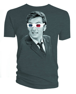 DW TENTH DOCTOR 3D GLASSES PX CHARCOAL T/S LG