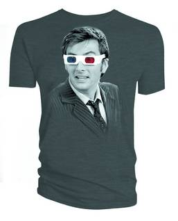 DW TENTH DOCTOR 3D GLASSES PX CHARCOAL T/S XXL