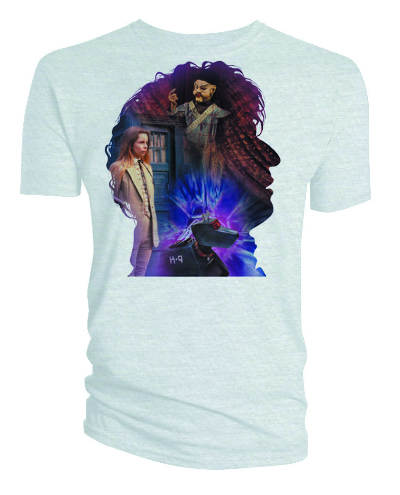 DW FOURTH DOCTOR SILHOUETTE WHT T/S LG