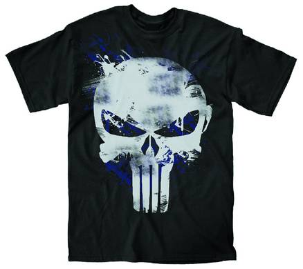 PUNISHER PAINT LOGO PX BLK T/S XL