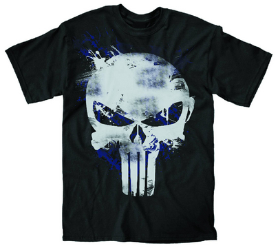PUNISHER PAINT LOGO PX BLK T/S XXL