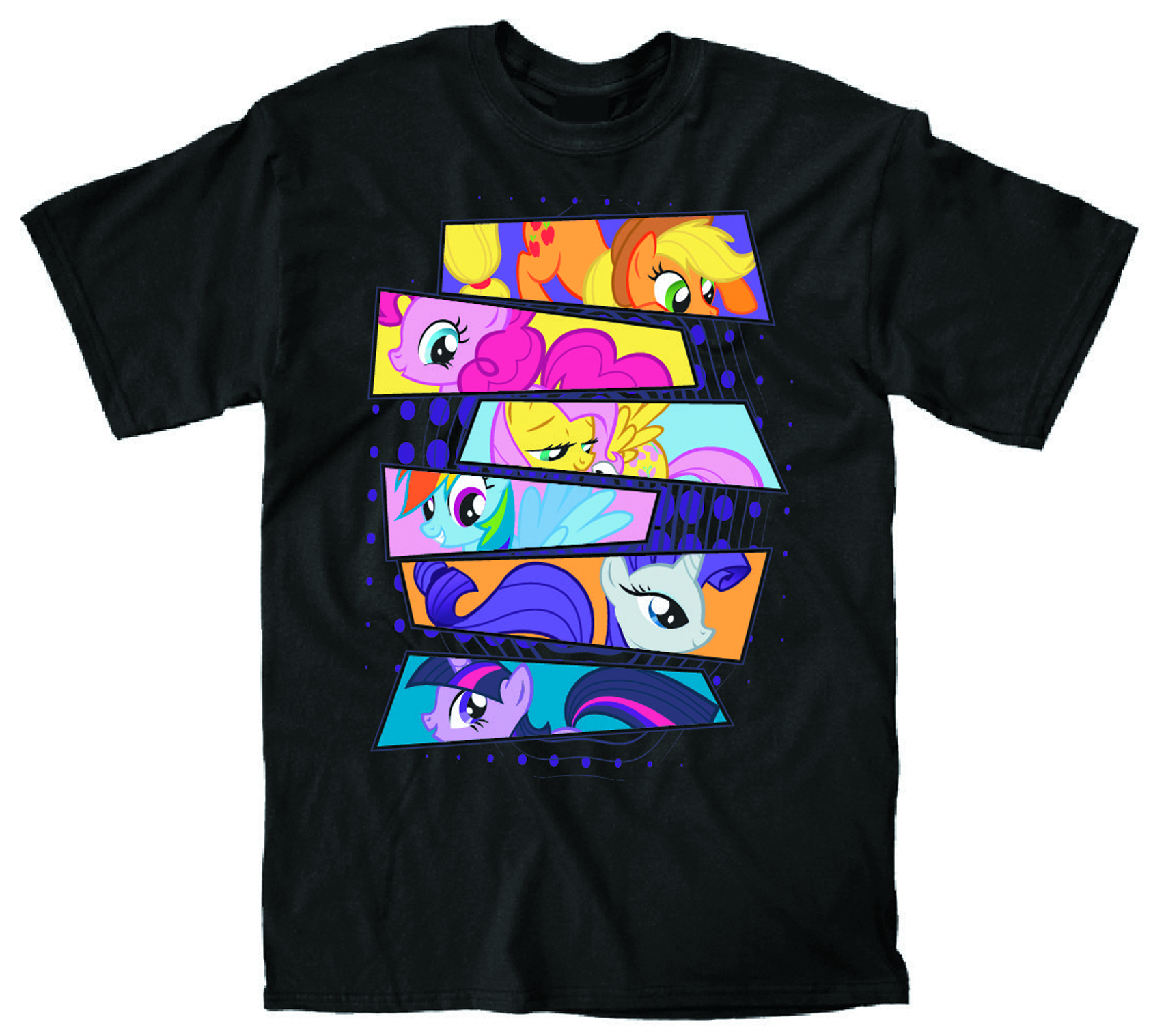 MY LITTLE PONY ALL OF US BLK T/S XL