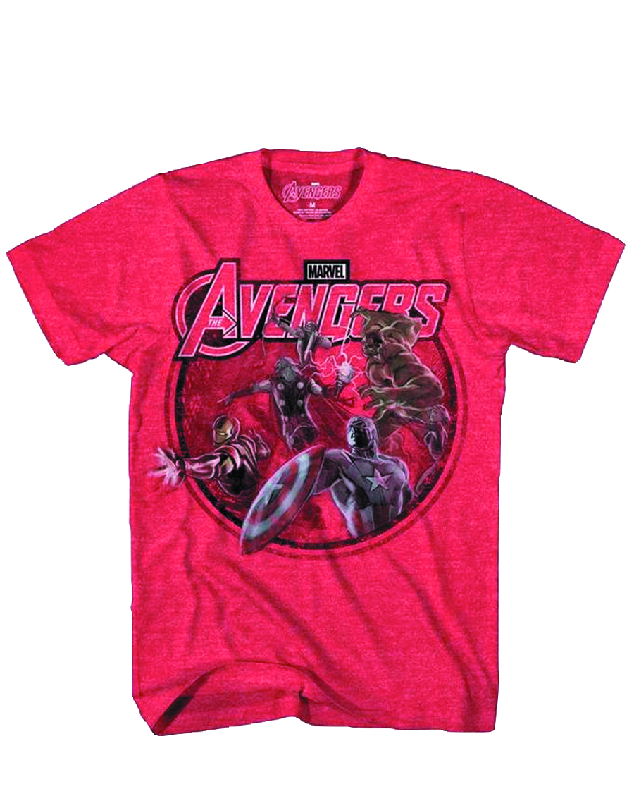 AVENGERS CONCEPT HIT PX RED HEATHER T/S MED