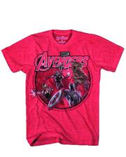 AVENGERS CONCEPT HIT PX RED HEATHER T/S LG