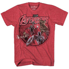 AVENGERS CONCEPT HIT PX RED HEATHER T/S XXL
