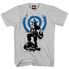 CAPTAIN AMERICA ROUGH ARMOR PX SILVER T/S LG