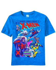 X-MEN MAGNA SHIELD PX BLUE HEATHER T/S SM