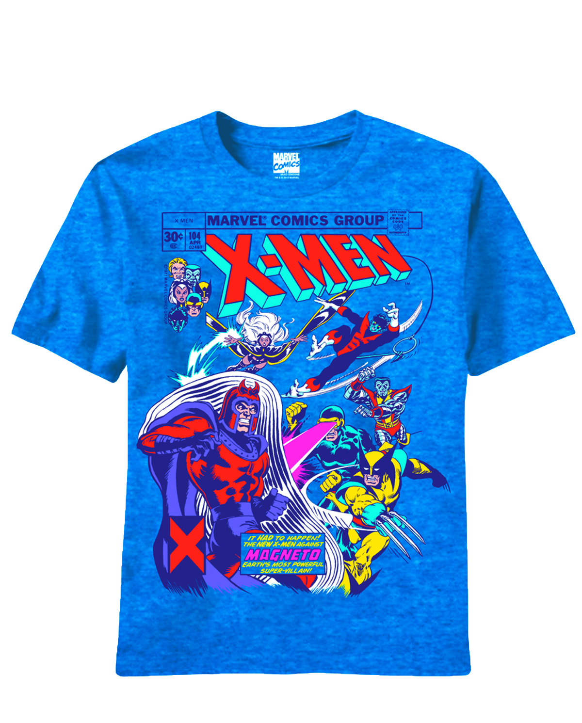 X-MEN MAGNA SHIELD PX BLUE HEATHER T/S MED
