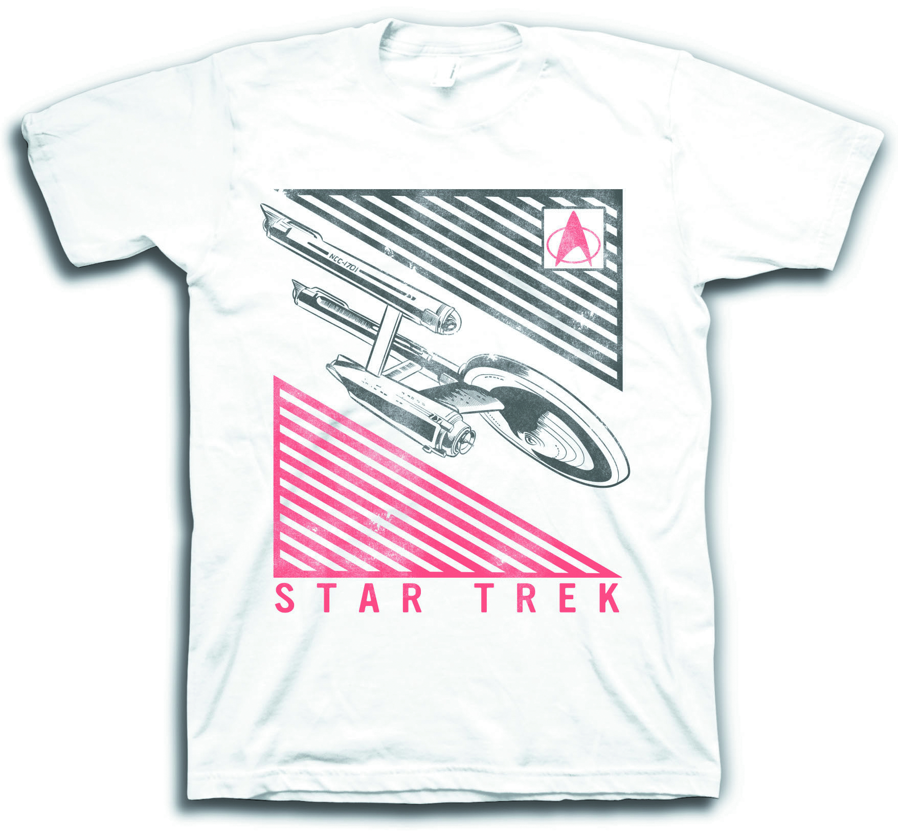 STAR TREK ENTERPRISE DECO WHT T/S SM