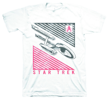 STAR TREK ENTERPRISE DECO WHT T/S LG