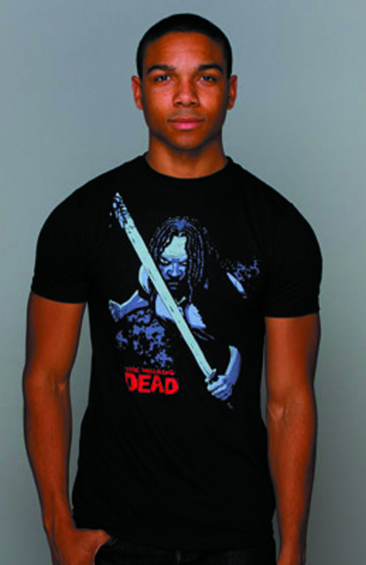 WALKING DEAD COMIC MICHONNE BLK T/S LG