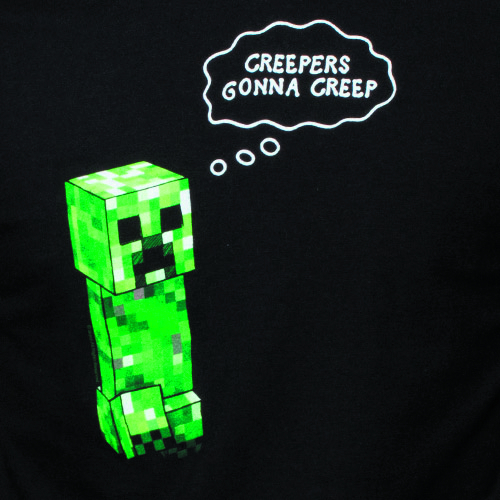 MINECRAFT CREEPERS GONNA CREEP BLK T/S SM