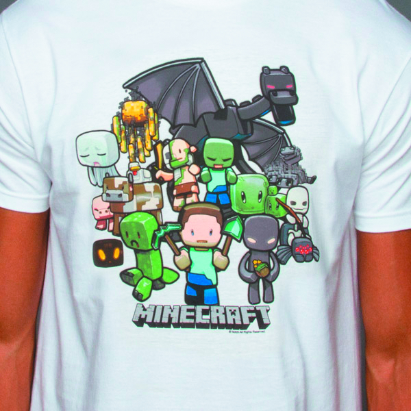 MINECRAFT MINECRAFT PARTY WHT T/S MED