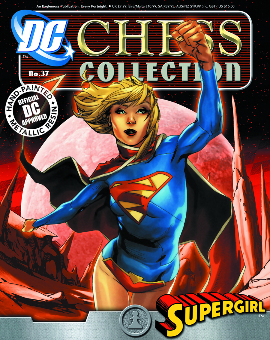 DC SUPERHERO CHESS FIG COLL MAG #37 SUPERGIRL WHITE PAWN