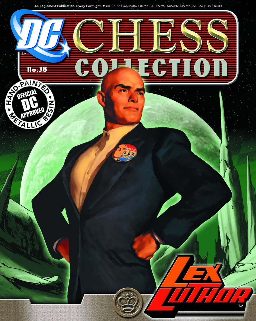DC SUPERHERO CHESS FIG COLL MAG #38 LEX LUTHOR BLACK KING