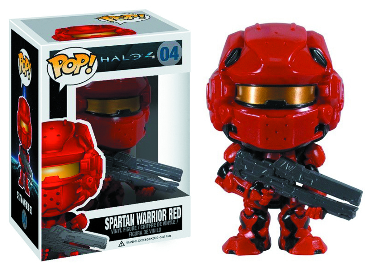 POP HALO 4 RED SPARTAN VINYL FIG