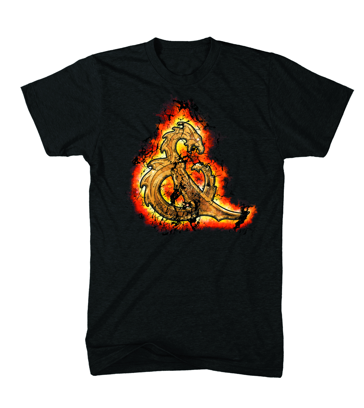 D&D AMPERSAND FIRE T/S BLK XL