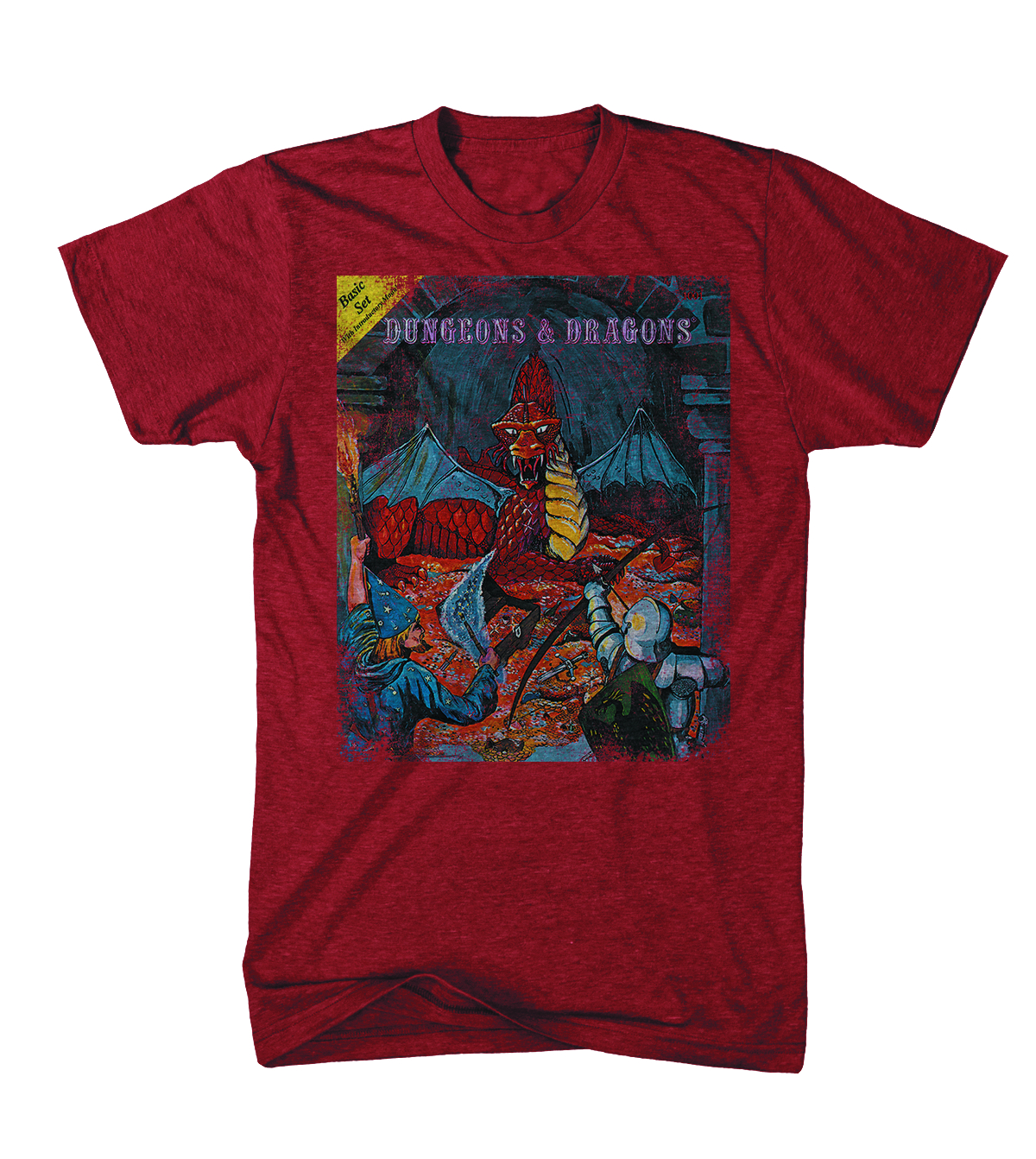 D&D RED DRAGON CVR T/S RED XXL