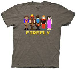 FIREFLY 8-BIT CREW PX CHOC HEATHER T/S XL