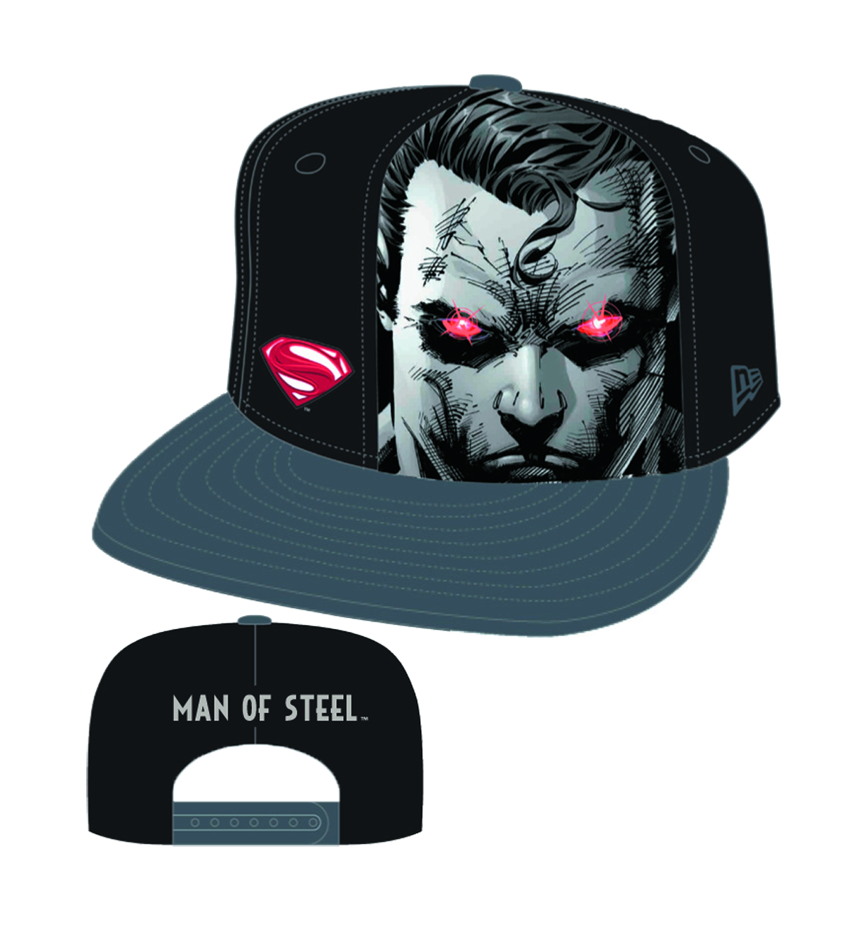SUPERMAN MAN OF STEEL SUB PAN SNAPBACK CAP