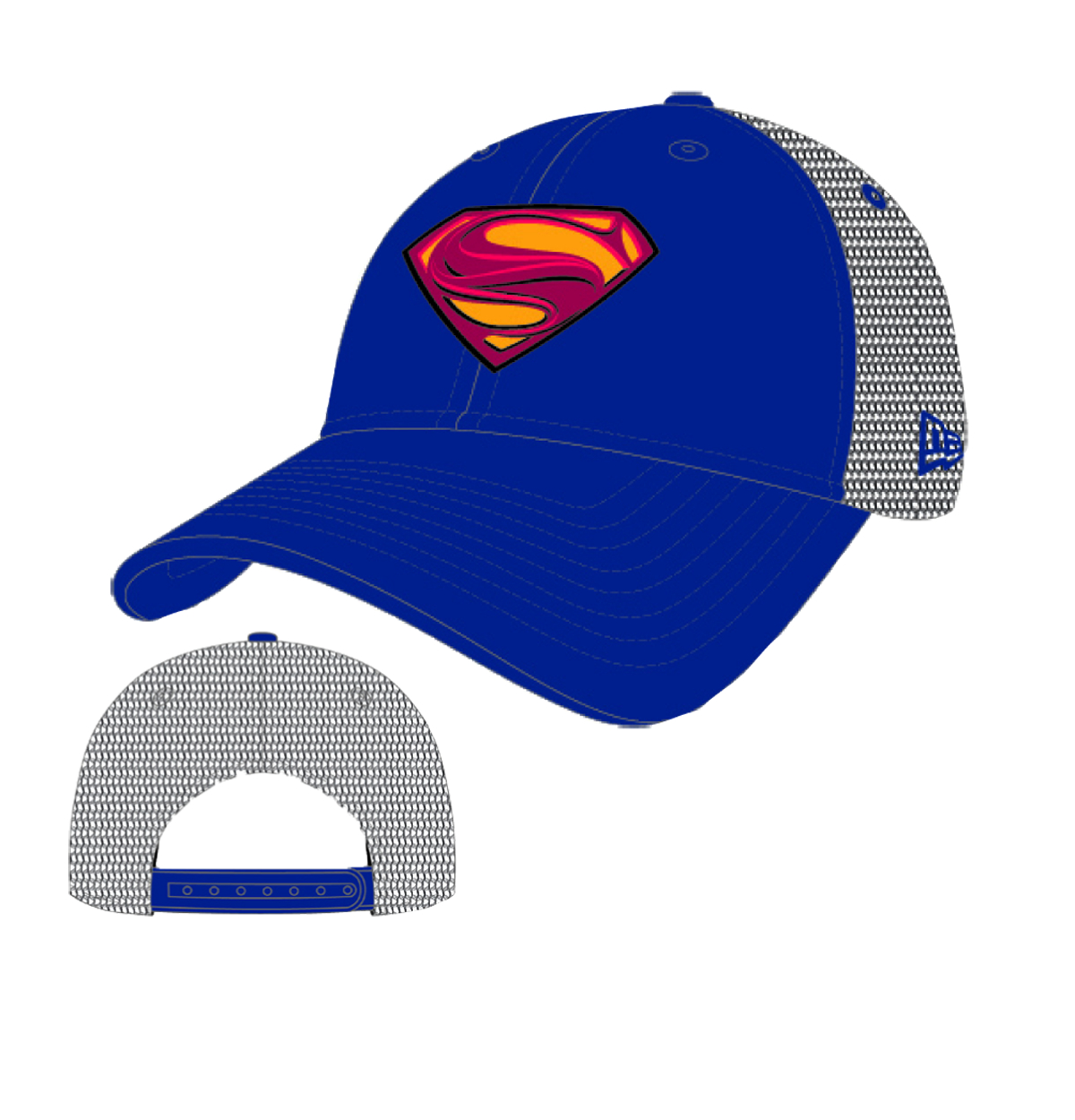 SUPERMAN MAN OF STEEL BASIC TRUCKER CAP