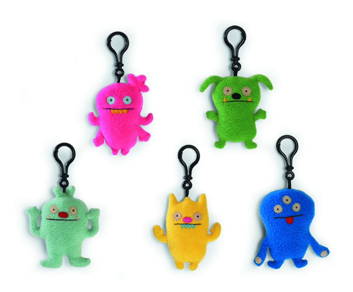 UGLYDOLL 2013 INTRO CLIP-ON 3-IN PLUSH ASST