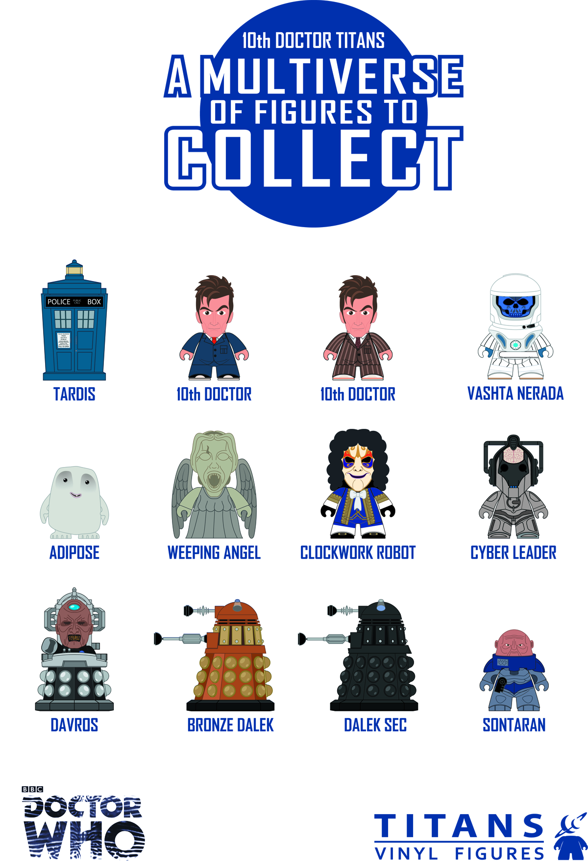 DOCTOR WHO TITANS MINI FIG 20PC BMB DS SER 02