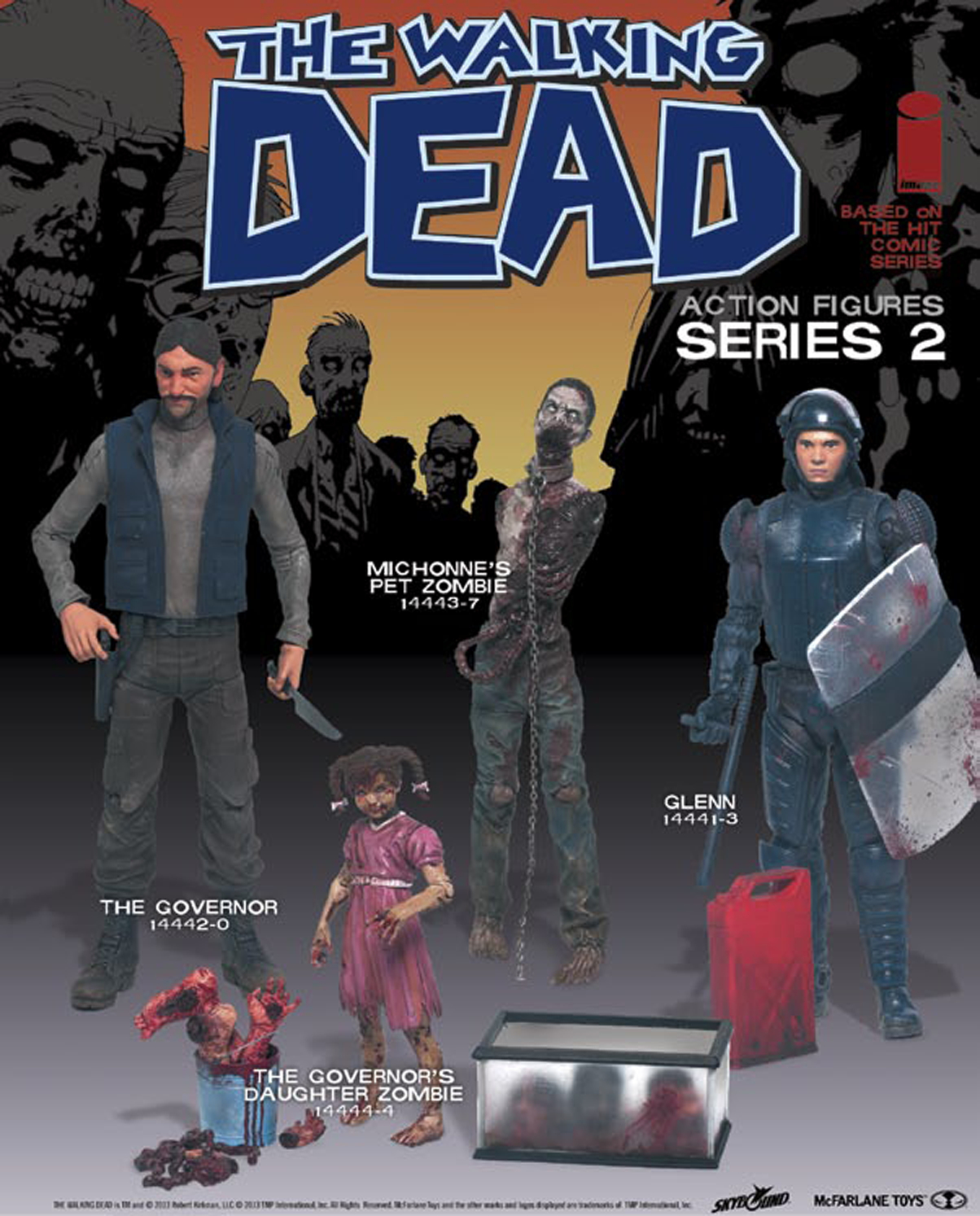 WALKING DEAD COMIC SERIES 2 AF ASST