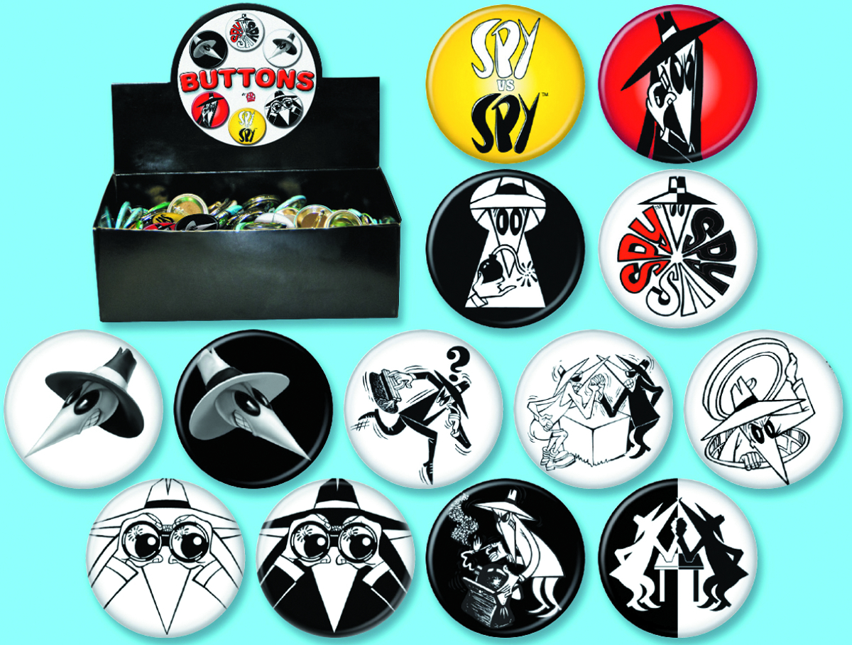 MAD SPY VERSUS SPY 144 PC BUTTON ASST