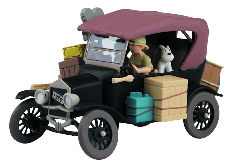 TINTIN TRANSPORTS FORD MODEL T