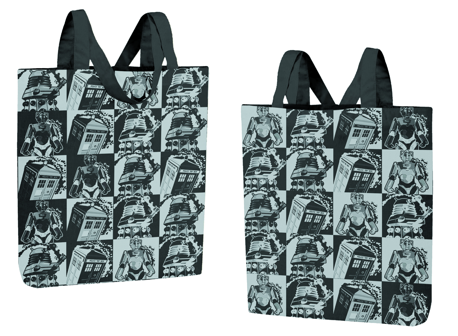 (USE OCT132029) DOCTOR WHO MONOCHROME COMIC STRIP TOTE BAG