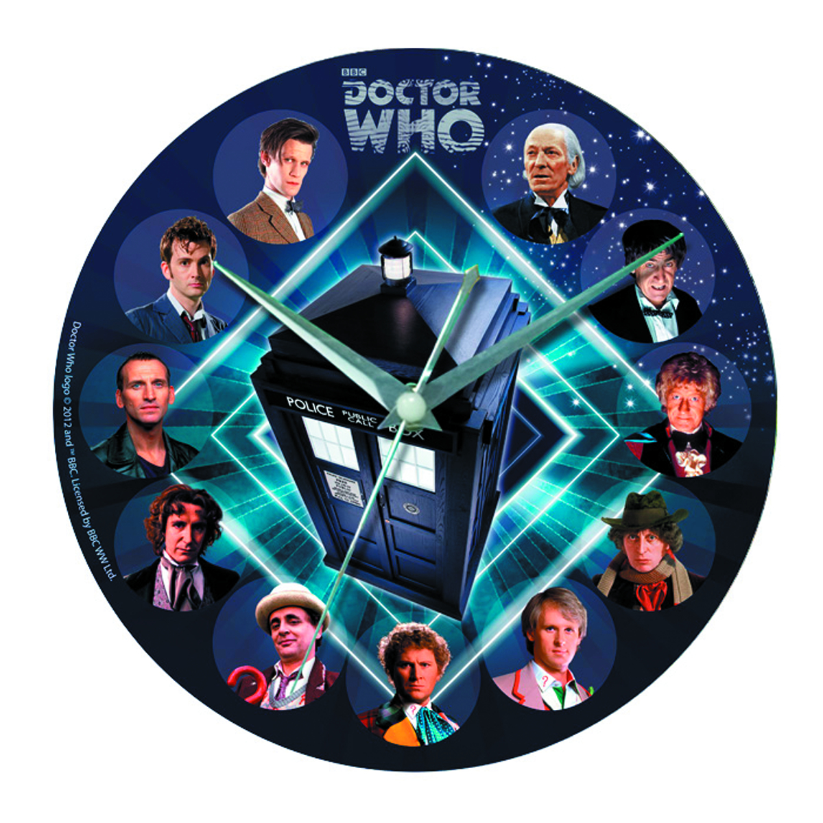 DOCTOR WHO GLASS WALL CLOCK