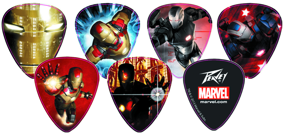 IRON MAN 3 CHARACTER GUITAR PICK PACK