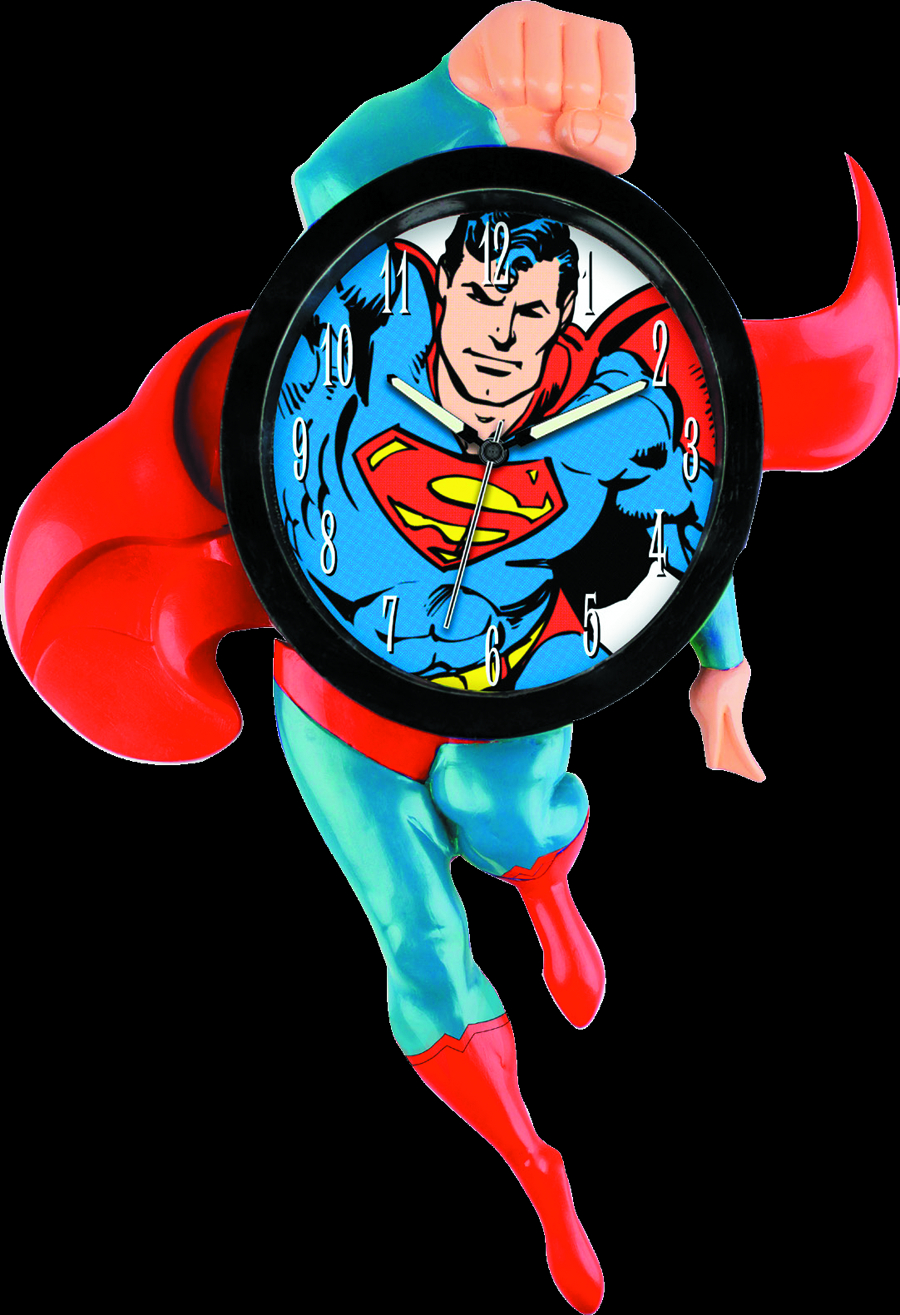 SUPERMAN 3D MOTION WALL CLOCK