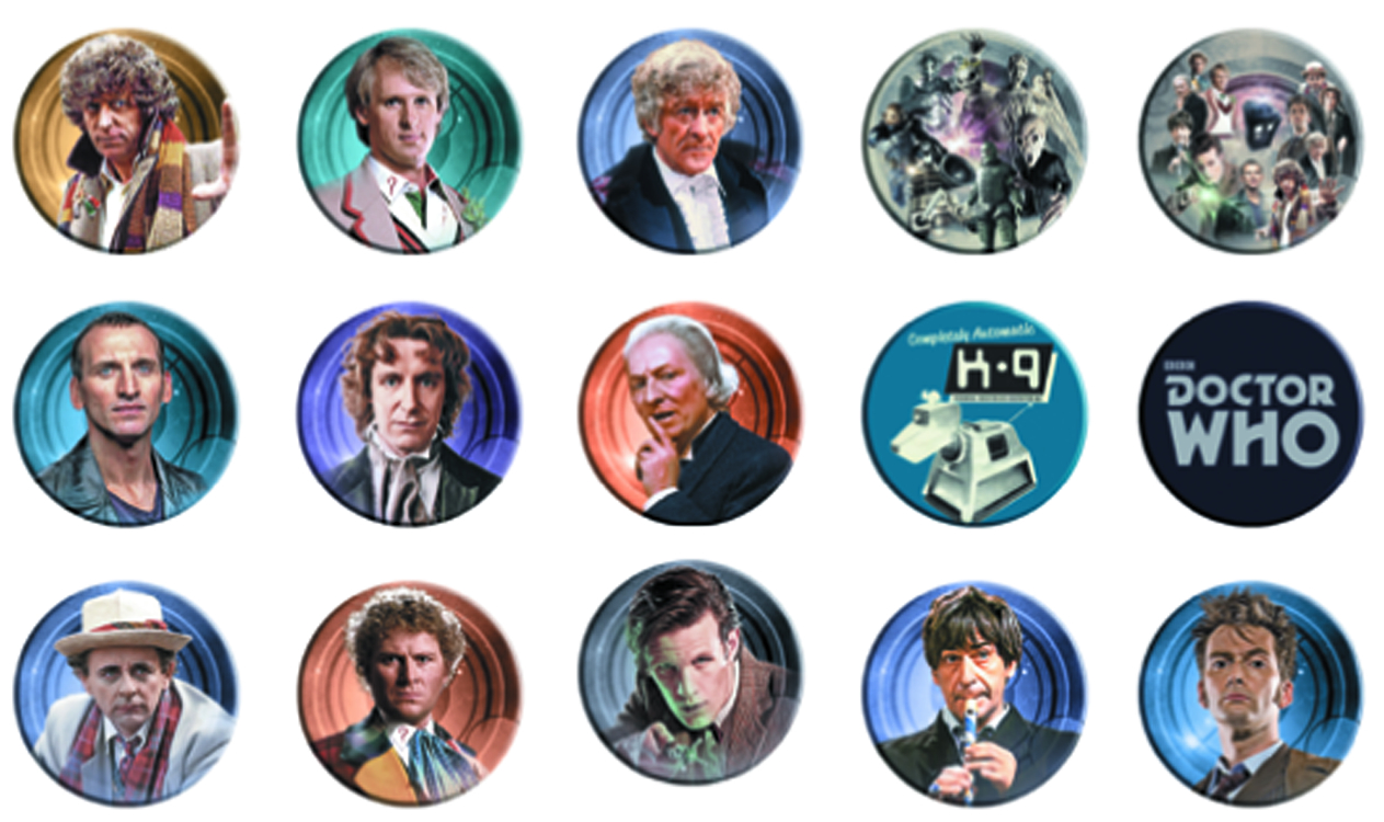 DOCTOR WHO CLASSIC 120 PC BUTTON ASSORTMENT
